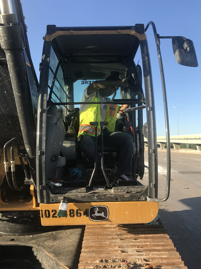 Heavy Machinery Glass with Operator in Houston, TX